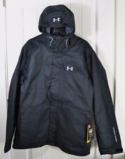 NWT MENS UNDER ARMOUR STORM COLDGEAR INFRARED WATER WINDPROOF COAT JACKET SZ XL