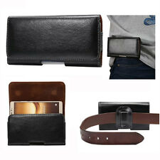 Universal Leather Horizontal Wallet Belt Pouch Cover For Apple iPhone3 4 5 5C 6+