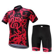Logas Mens Cycling Jersey And Shorts Set Bicycle Bike Short Sleeve Jersey