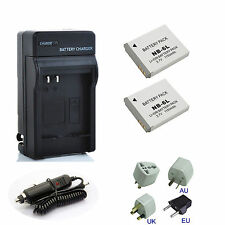 Battery Charger Pack NB-6LH for Canon PowerShot SX520 HS, S120, SX510 HS Camera