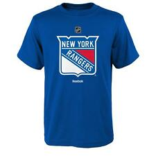 YOUTH New York Rangers Reebok primary logo T Shirt Blue
