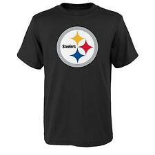 YOUTH Pittsburgh Steelers NFL primary logo T Shirt Black