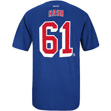 New York Rangers Rick Nash Reebok NHL Player T Shirt Men Blue