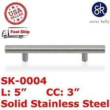 """5"""" Solid Stainless Steel T Bar Pull Handle Cabinet Door Kitchen Drawer Hardware"""