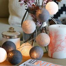 COTTON BALL FAIRY Colors LED STRING LIGHTS PARTY PATIO WEDDING Christmas DECOR