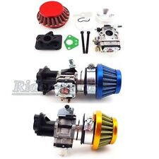 Gas Scooter Carburetor 15mm Air Filter Stack Inake For 33cc 43cc 49cc Goped EVO