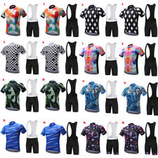 Logas Men's Short Sleeve Bicycle Bike Jersey Cycling Clothing Bib Shorts