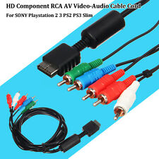 RCA AV Video-Audio HD Component Cable Cord For SONY Playstation 2 3 PS2 PS3 Slim