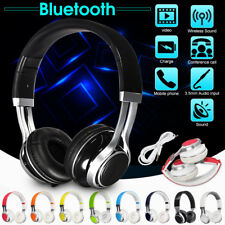 3.5mm Fold Over-Ear Headband Earphone Headset Stereo w/Mic For PC/MP3/MP4/Tablet