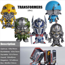 4'' TRANSFORMERS 5 OPTIMUS BUMBLEBEE MEGSTRON SQWERKS HOUND FIGURES COLLECTION