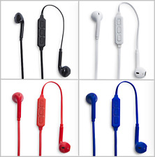 Bluetooth Earphones for Apple iPhone, iPad, iPod + Case and USB Charging Cable