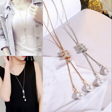 Fashion Women Simple Style Olivet Pendant Tassel Chain Necklace Jewelry Gift