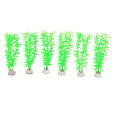 6pcs Plastic Aquarium Plants Fish Tank Water Plant Decoration Ornament