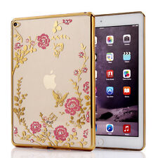 Slim Electroplating Crystal Diamond Clear Silicone Case Cover for iPad mini 1234
