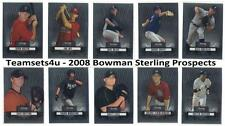 2008 Bowman Sterling Prospects Baseball Set ** Pick Your Team **
