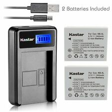 NB-4L Battery& LCD Slim Charger for Canon PowerShot SD1000, SD1100 IS, SD1400 IS