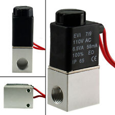 "1/4"" Inch DC 24/110V Electric Air Water Solenoid Valve Normally Closed"