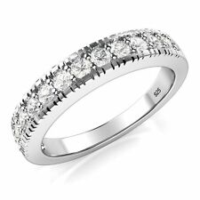 Sterling Silver 925 CZ Cubic Zirconia Wedding Band Ring 430