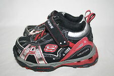 INFANT/TODDLER BOYS SKECHERS BLACK/RED AIRATORS SHOES - SEE LIST FOR SIZE (2197)