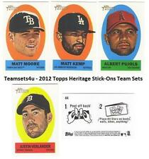 2012 Topps Heritage Stick-Ons Baseball Set ** Pick Your Team **