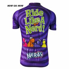 NERDS CANDY Team Cycling Jersey Retro Road Pro Clothing MTB Short Sleeve Bike