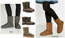 New UGG BNIB £155 Leather Fur Suede CLASSIC SHORT Women's Shoes Boots