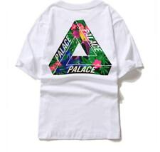 Hot PALACE Men's Unisex Classical Green Triangle Cotton Graphic T-shirt TEE