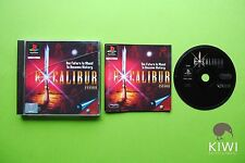 Excalibur PS1 Playstation 1 PAL Game + Works On PS2 & PS3