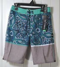NWT BOYS ONEILL HYPERFREAK CANGGU GRAY SWIMMING SUIT TRUNKS BOARD SHORTS SZ 8