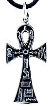 32: Ankh Anch egyptian Cross Handle cross Pendant Sterling Silver chain