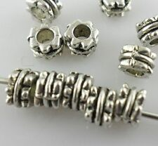 160/1300pcs Tibetan Silver Charms Spacer Beads Crafts Jewelry Findings 3x4.5mm