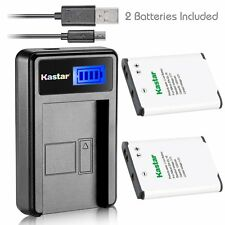 EN-EL19 Battery&LCD USB Charger for Nikon Coolpix S3200 S3300 S3400 S3500 S3600