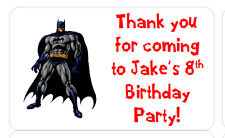 PERSONALISED STICKERS LABELS ADDRESS PARTY SWEET CONES BATMAN