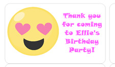 PERSONALISED STICKERS LABELS ADDRESS PARTY BAGS SWEET CONES EMOJI