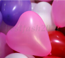 Heart Shape Latex Helium Balloons Wedding Birthday Party Decoration Supplies Q