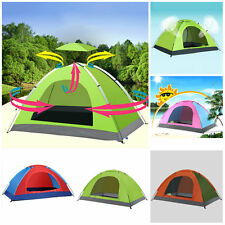 Portable 1~4 People Automatic Instant Pop Up Tent Camping Hiking Beach Tent