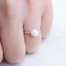 Freshwater Pearl Ring Handmade14k gold filled silver filled ring wire jewelry