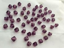 Swarovski #5301 Crystal Amethyst Faceted Bicone Beads 4mm 5mm 6mm