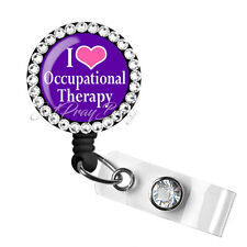 Retractable Badge Reel Name Pull ID Clip Holder OT Occupational Therapist Gift