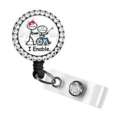 Retractable Badge Reel Name ID Clip Holder OT Occupational Therapist Therapy