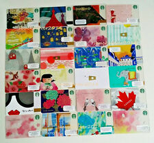 STARBUCKS Gift Card CHINA, JAPAN, KOREA, ALICE & OLIVIA, TOKYO, CANADA,etc