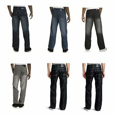 SOUTHPOLE 4180-1043 Mens Relaxed Fit Jeans Dark Light  Black Rinse Sand Blue NWT