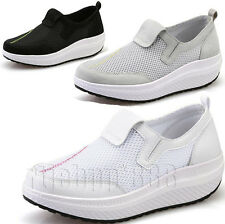Ladies Fitness Running Trainers Walking Fashion Shape Step Up Toning Gym Shoes