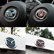 Car Sticker For Mazda Logo Steering Wheel /Tail Epoxy Reflective Sticker Axela 3