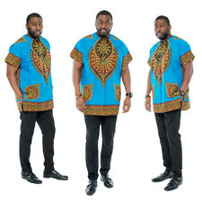 T Mens Printed African National Style Short-sleeved Dress Costumes Dashiki #5103