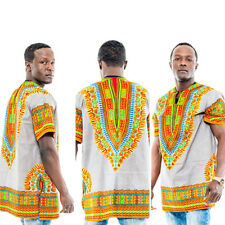 T Mens Printed African National Style Short-sleeved Dress Costumes Dashiki #5106