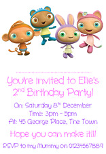 personalised photo paper card party invites invitations CBEEBIES WAYBULOO