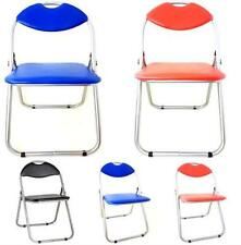 PREMIUM TOP QUALITY PADDED FOLDING OFFICE CHAIR SPARE CHAIRS FOR GUEST MULTI COL
