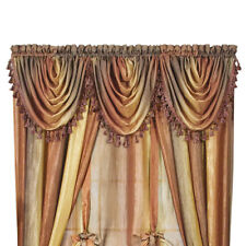 """Ombre Shimmery Sheer 42""""x46"""" Waterfall Rod Pocket Window Curtain Valance"""