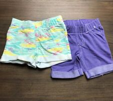 Circo Girls/Toddler 18M, 2T Hawaiian Print Shorts & Purple Bermuda Shorts Set